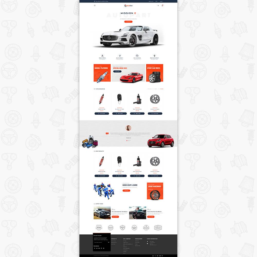 Auto Store Template