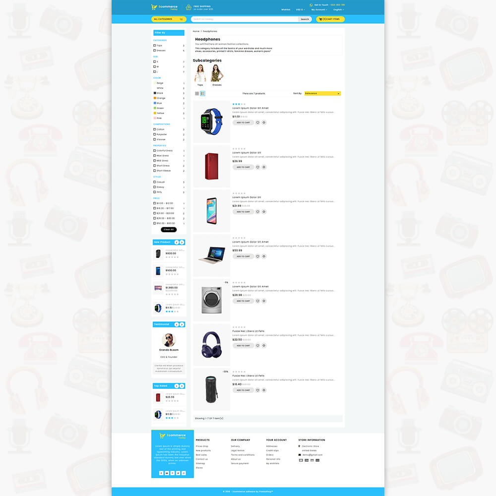 Ecommerce-Today- Electronics Store Template