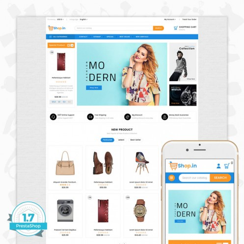 Shop in -The Fashion PrestaShop Theme