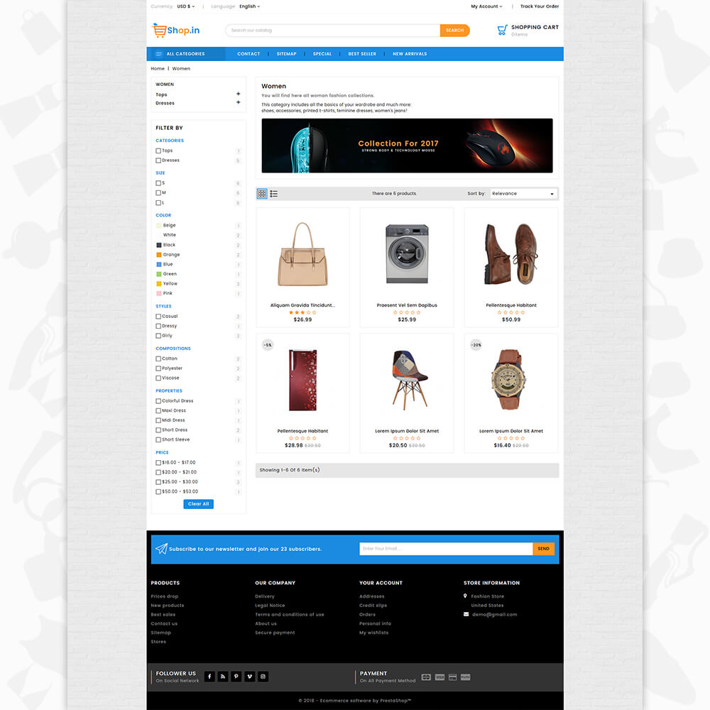 Shop in -The Fashion Store Template