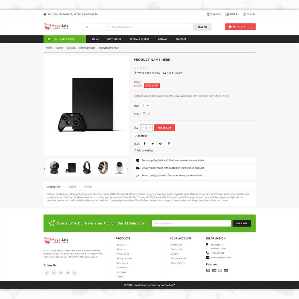 MegaSale - The Online Store Template