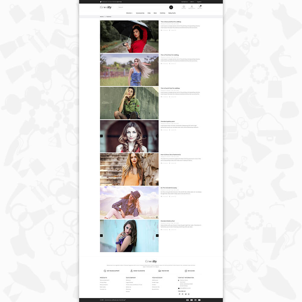 Gravity - The fashion store Template