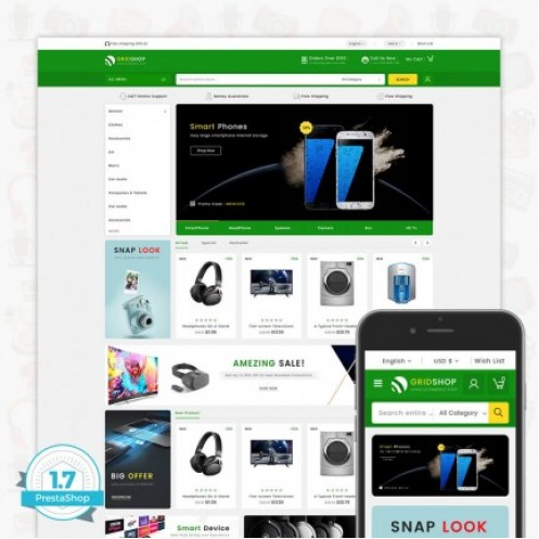 GridShop - The Large Ecommerce Store Template