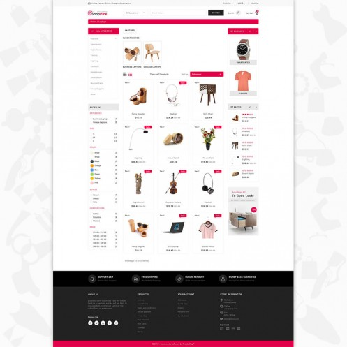 Shoppick - The Online Shop PrestaShop Theme