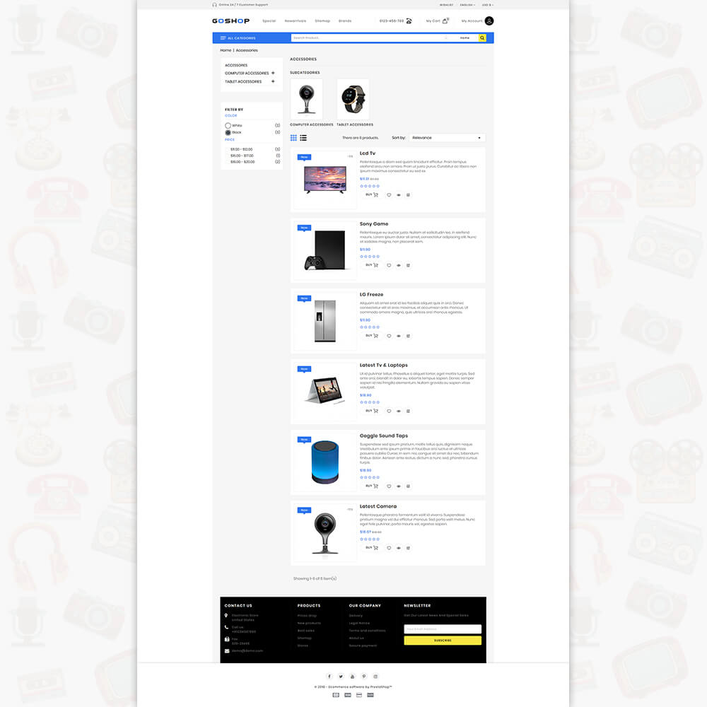 GoShop - The Electronics Store Template