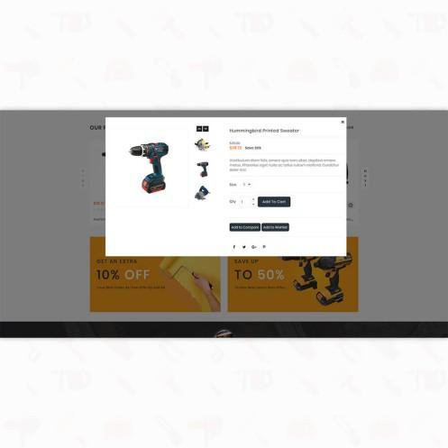 Handi Tool - Free  Powertool Shop PrestaShop Theme