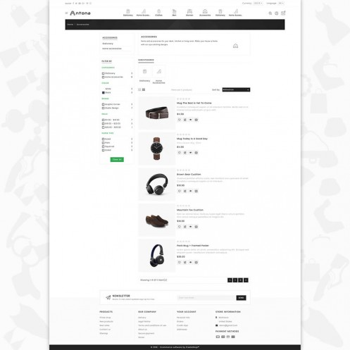 Antona - The Fashion PrestaShop  Theme