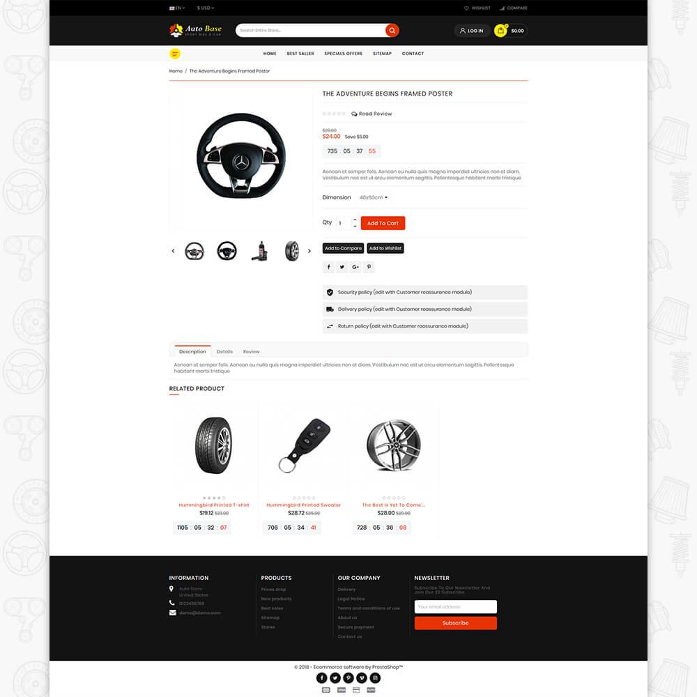 Autobase - Sport Bike & Car Template