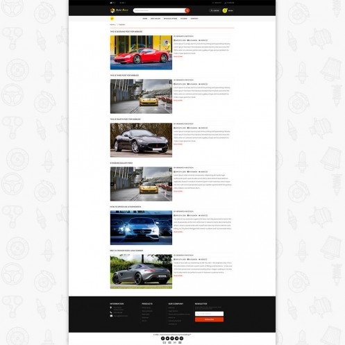 Autobase - Sport Bike & Car PrestaShop Theme