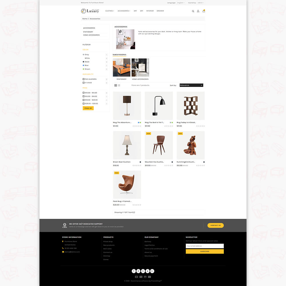 Luxury - The Furniture Store Template
