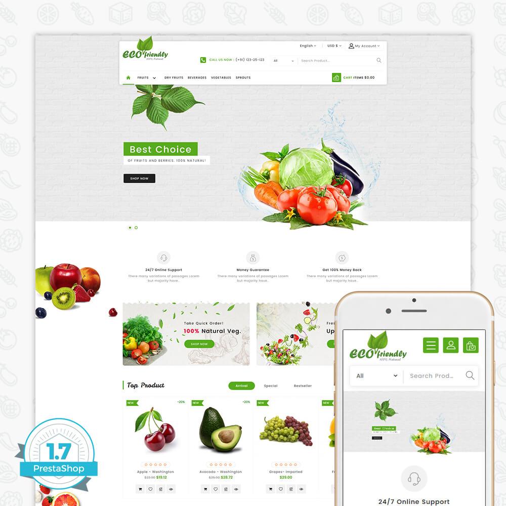 Eco - Friendly Organic Food Template