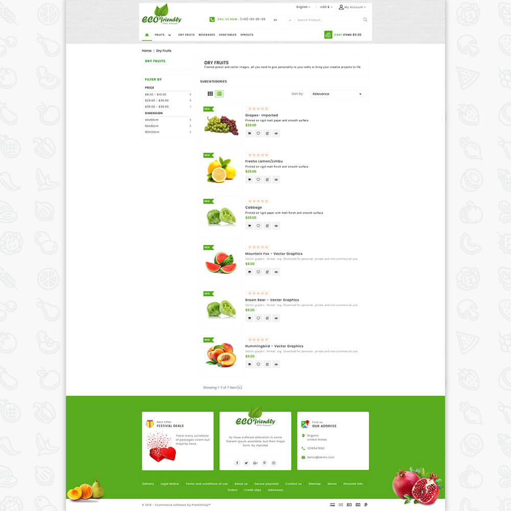 Eco - Friendly Organic Food Template