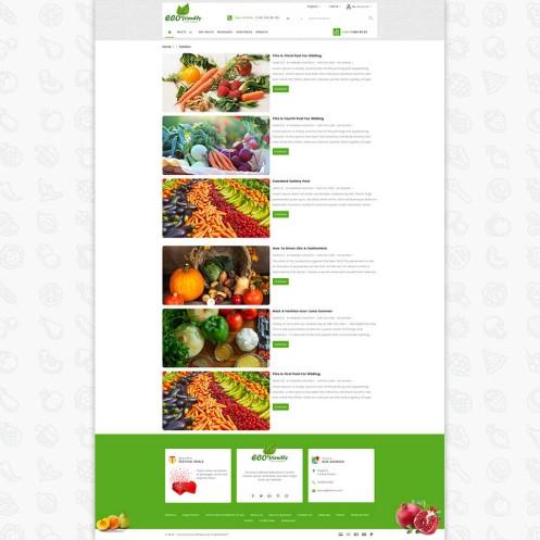 Eco - Friendly Organic Food PrestaShop  Theme