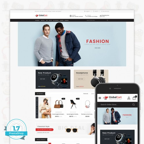 GlobalCart - Online Shopping Mall Template