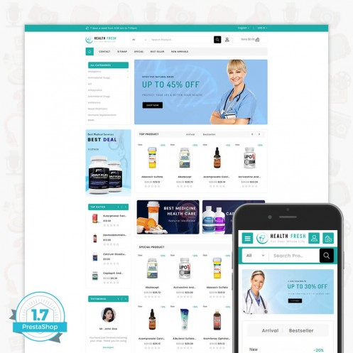 Health Fresh - For Whole Life PrestaShop Theme