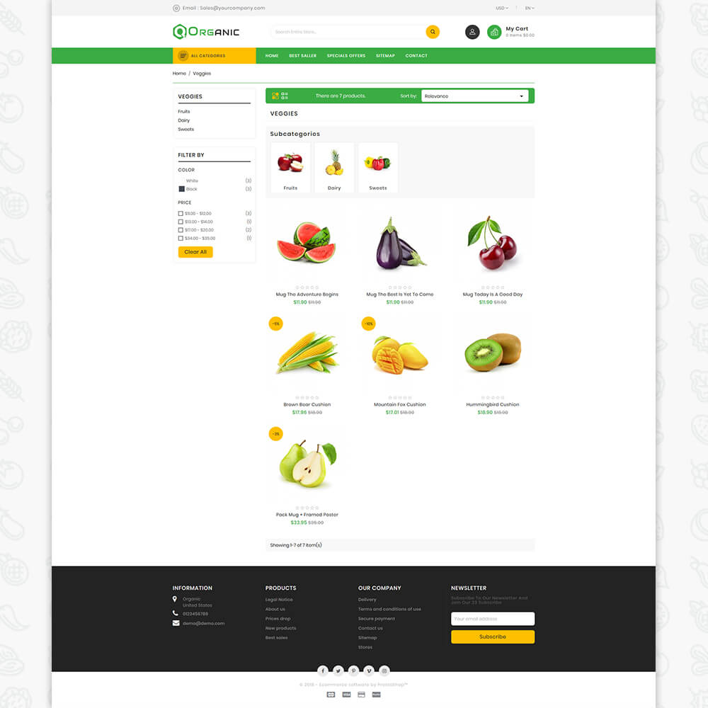 Organic Food - The Food Template