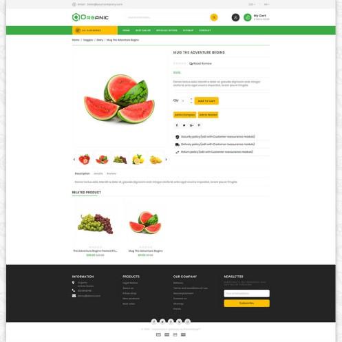 Organic Food - The Food PrestaShop Theme