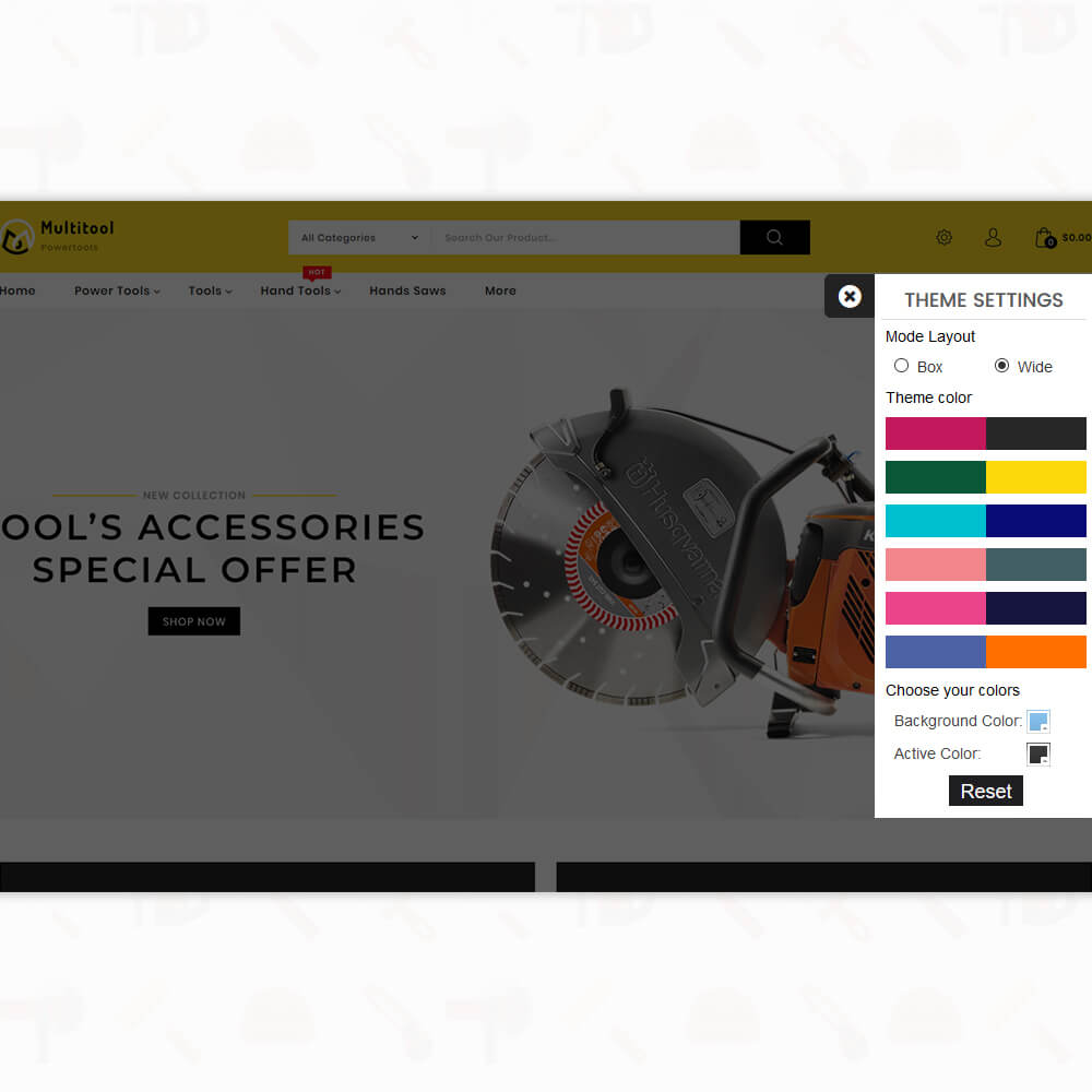Power tools 3.0.x opencart - Special Power Tools Template