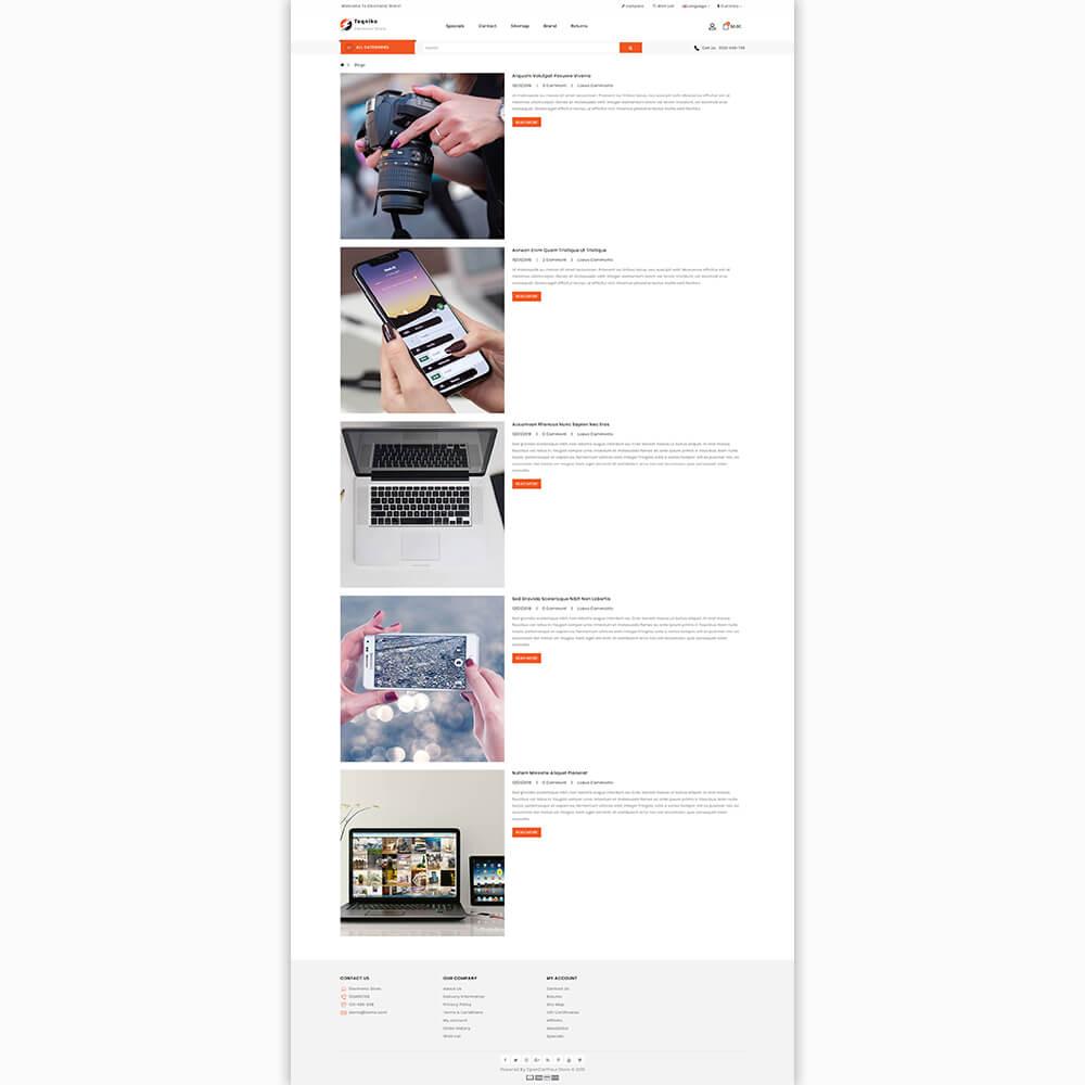 Teqniko - Responsive Multi Purpose Opencart 3 Theme