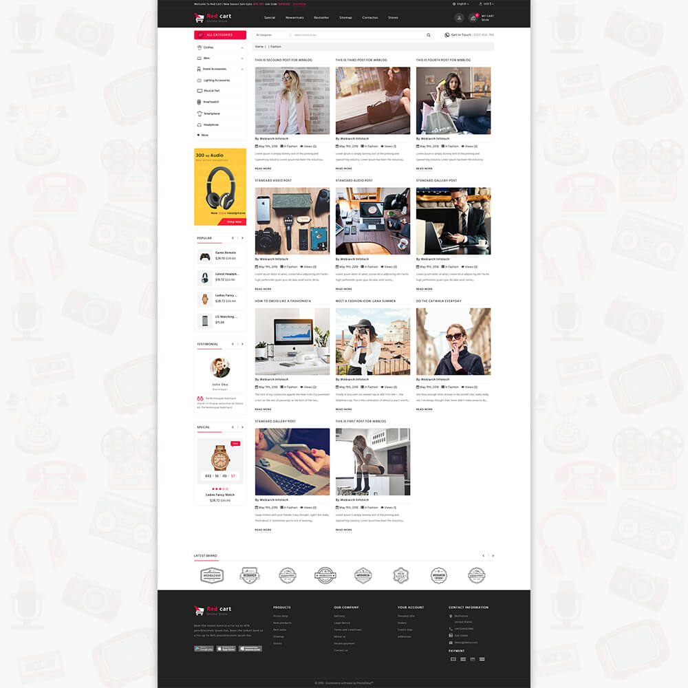 RedCart - The Mega Ecommerce Store Template