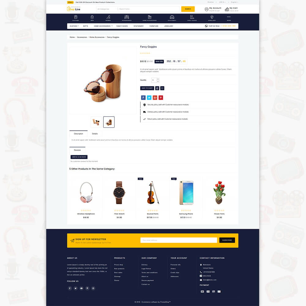 ShopLive- The Easy Shop Template