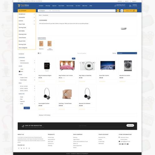 TechShop - The New Shopping Style PrestaShop Theme