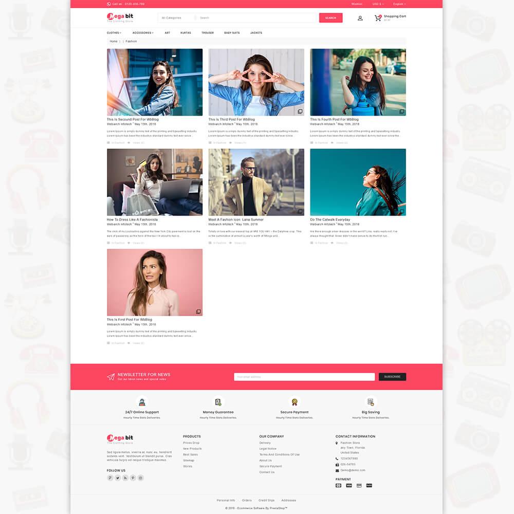 MegaBit - The E-commerce Shop Template