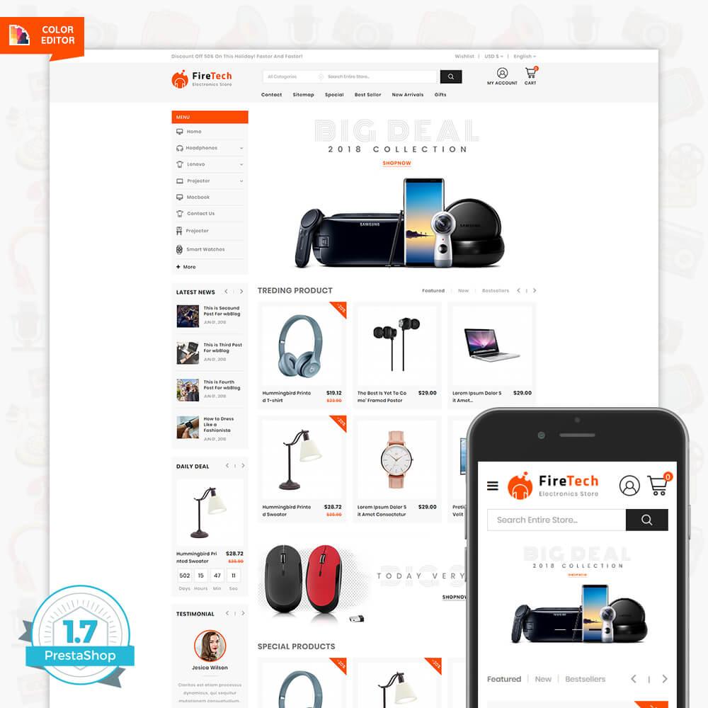 Firetech - The Electronics Digital Template