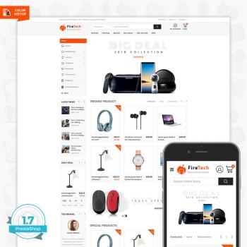 Firetech - Free Electronics Digital PrestaShop Theme