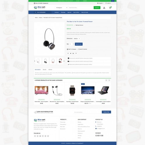 Blue Cart - The Online PrestaShop Theme