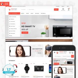 Media Stack - The Electronics Shop PrestaShop Theme