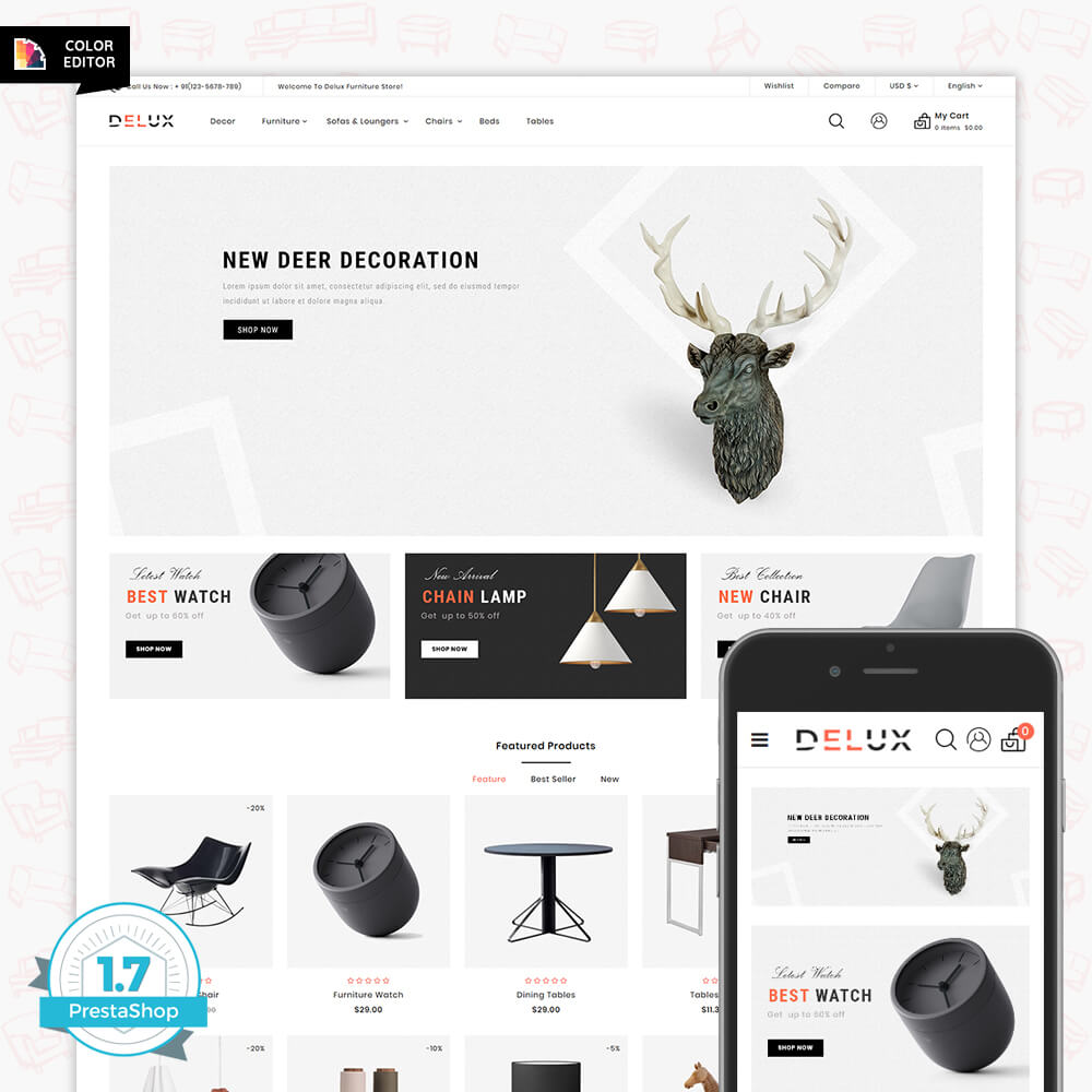 Delux - The Furniture Shop Template