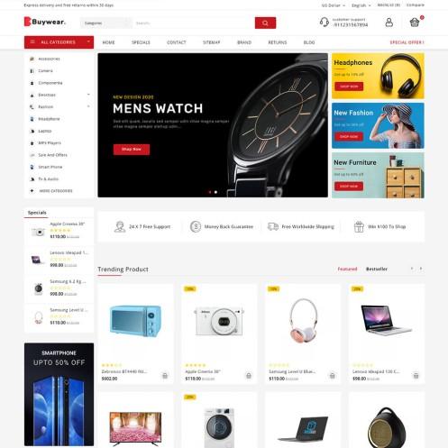 Buywear Opencart MultiPurpose Responsive Theme