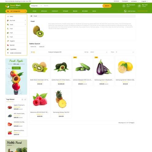 SeedMart - The Organic Food Opencart Theme