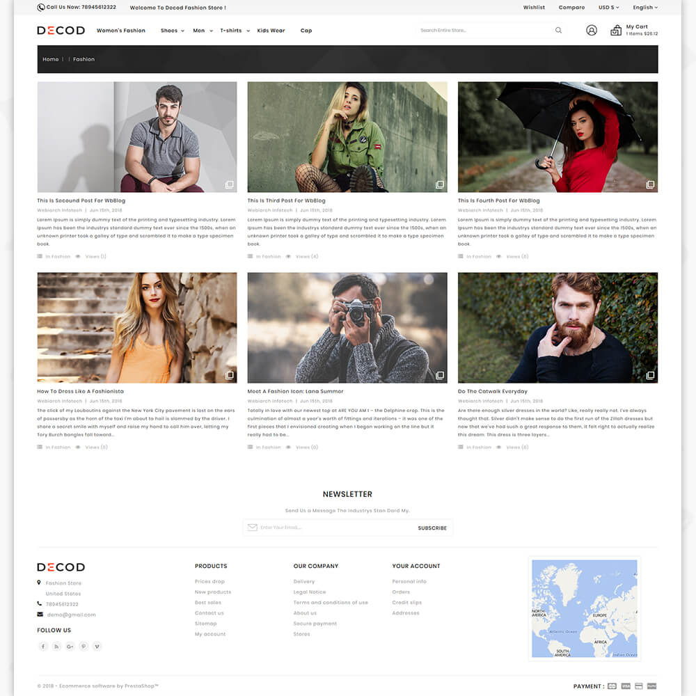 Decod - Fashion Store Template
