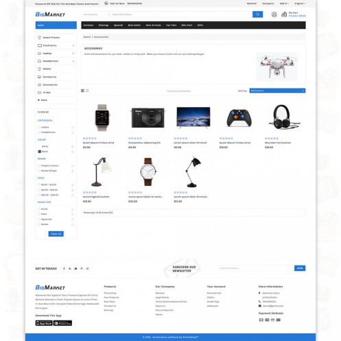 Big Market - The Mega Ecommerce PrestaShop Theme