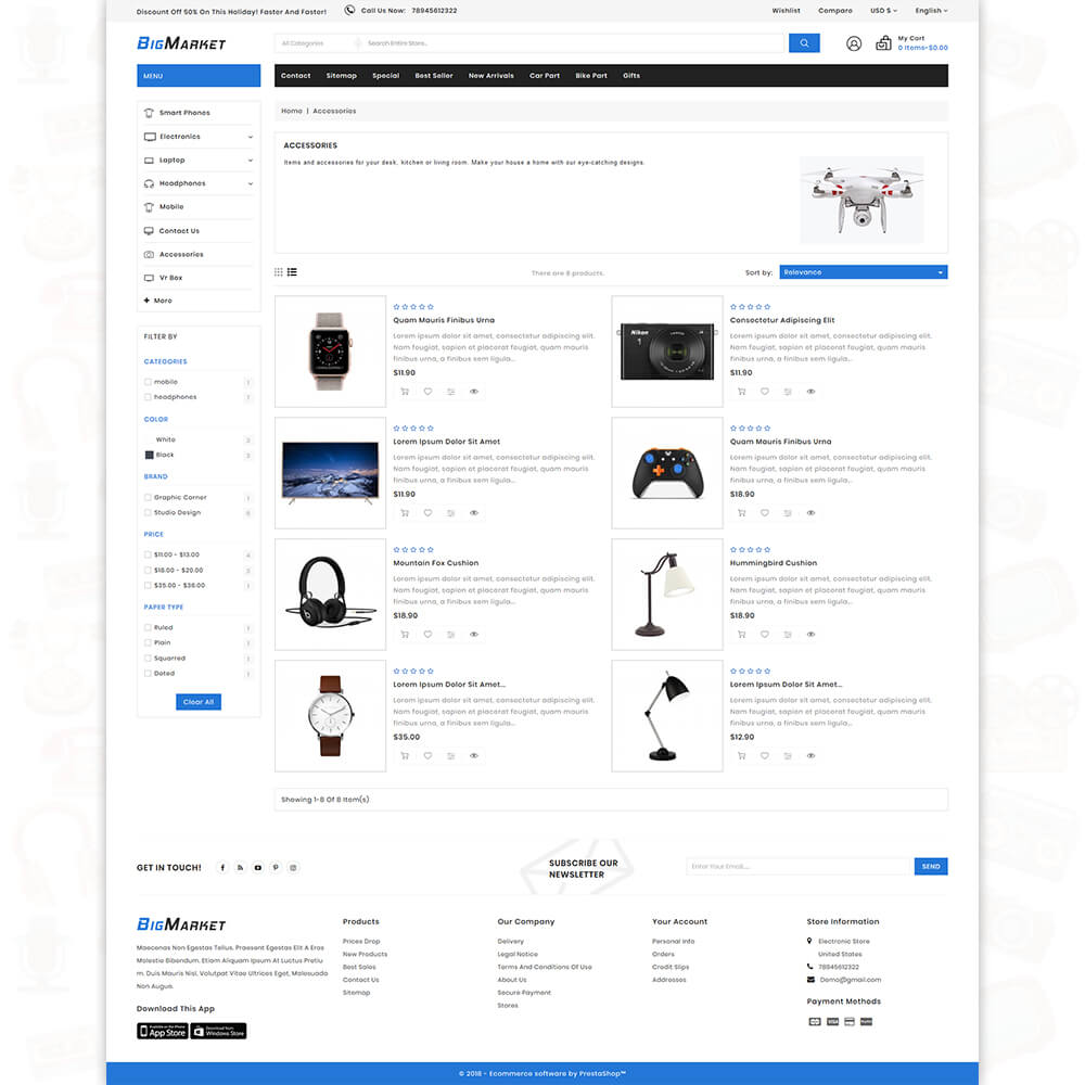 Big Market - The Mega Ecommerce Store Template