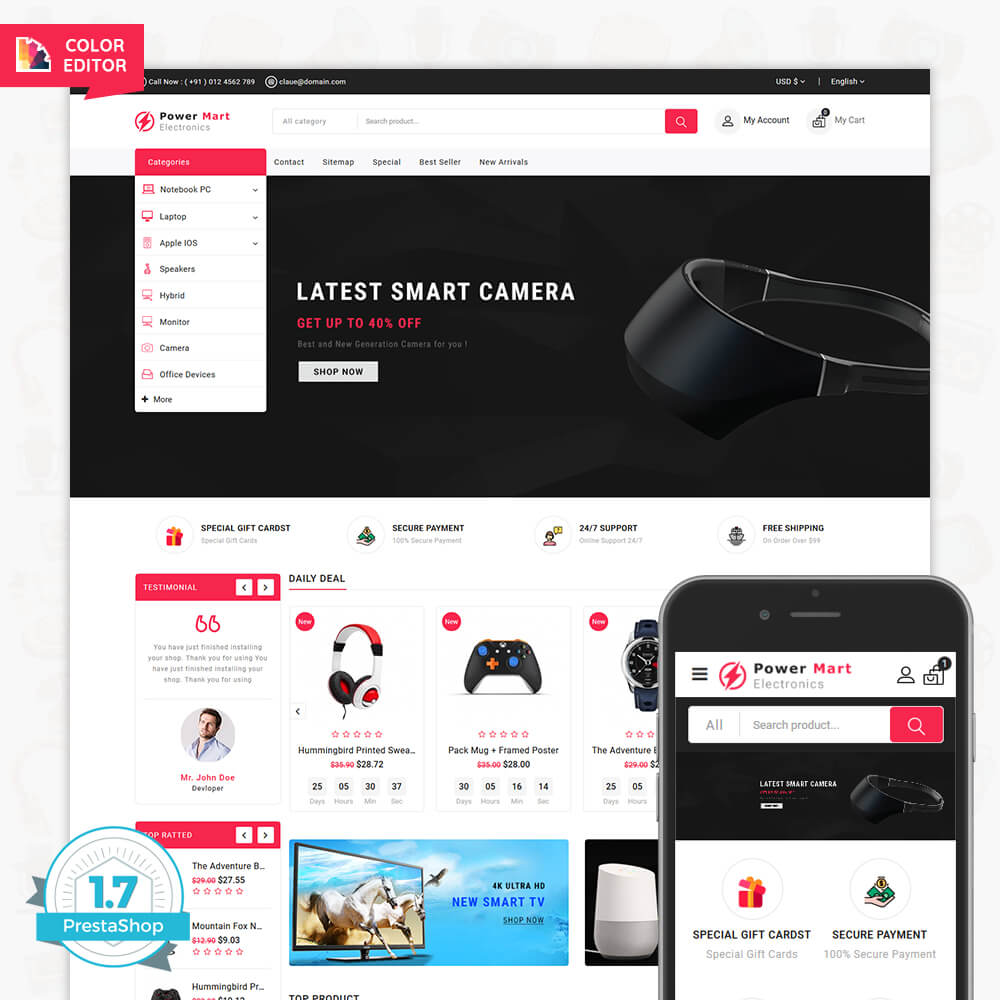 PowerMart - The Electronics Digital Template
