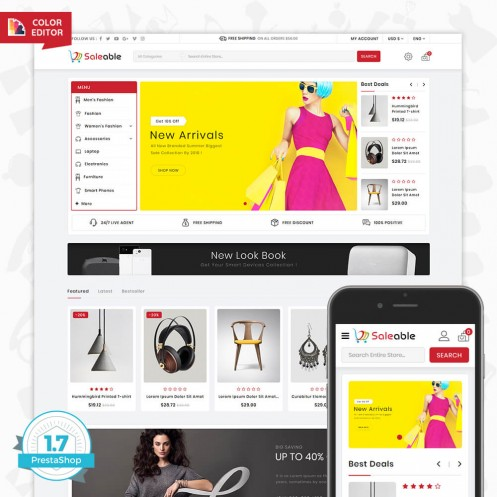 Saleable - Online Shopping Trade Template