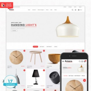 Amora - Free Furniture Store PrestaShop Theme