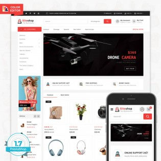 SiteShop - Online Shopping Trade PrestaShop Theme