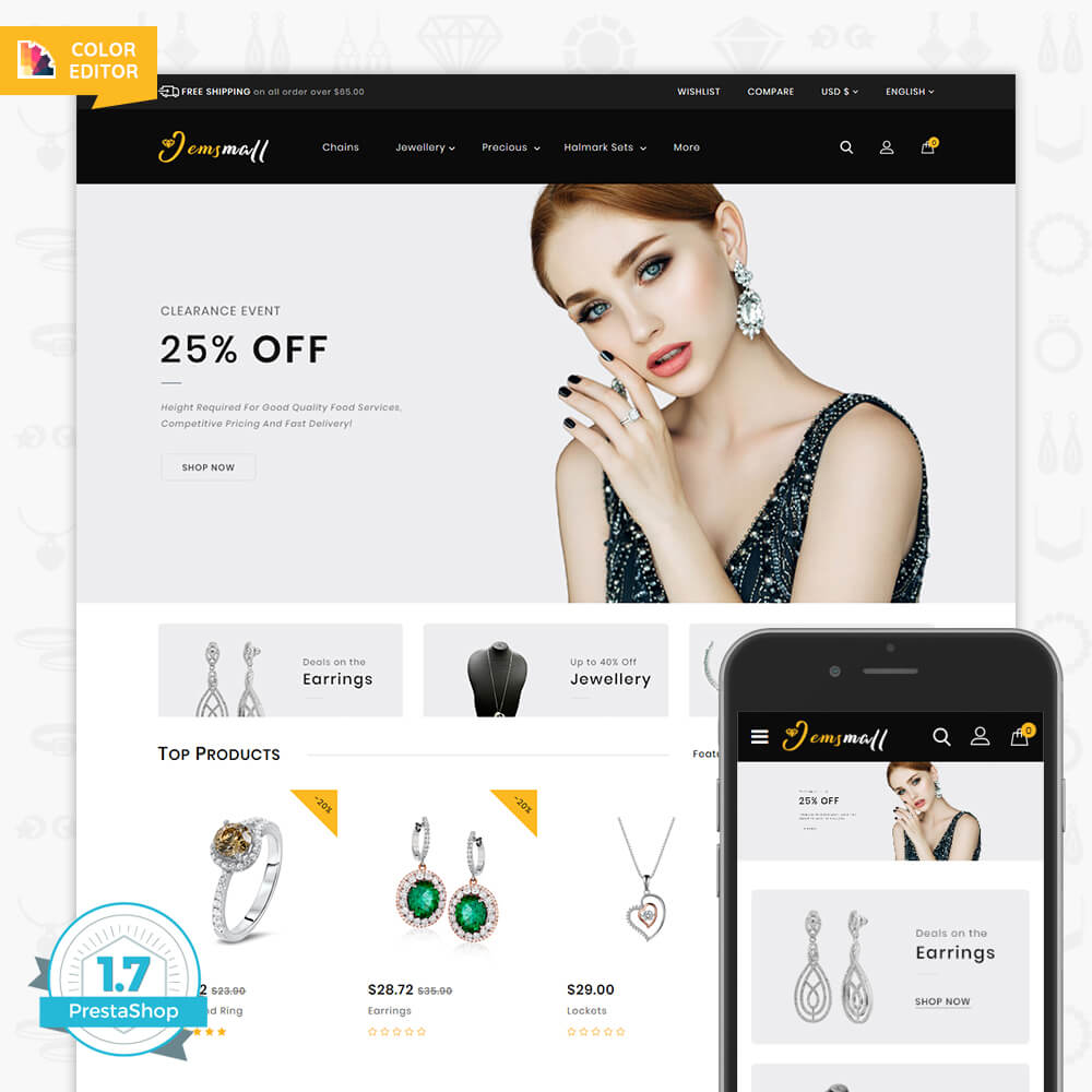 JemsMall - Royal Jewellery Shop Template