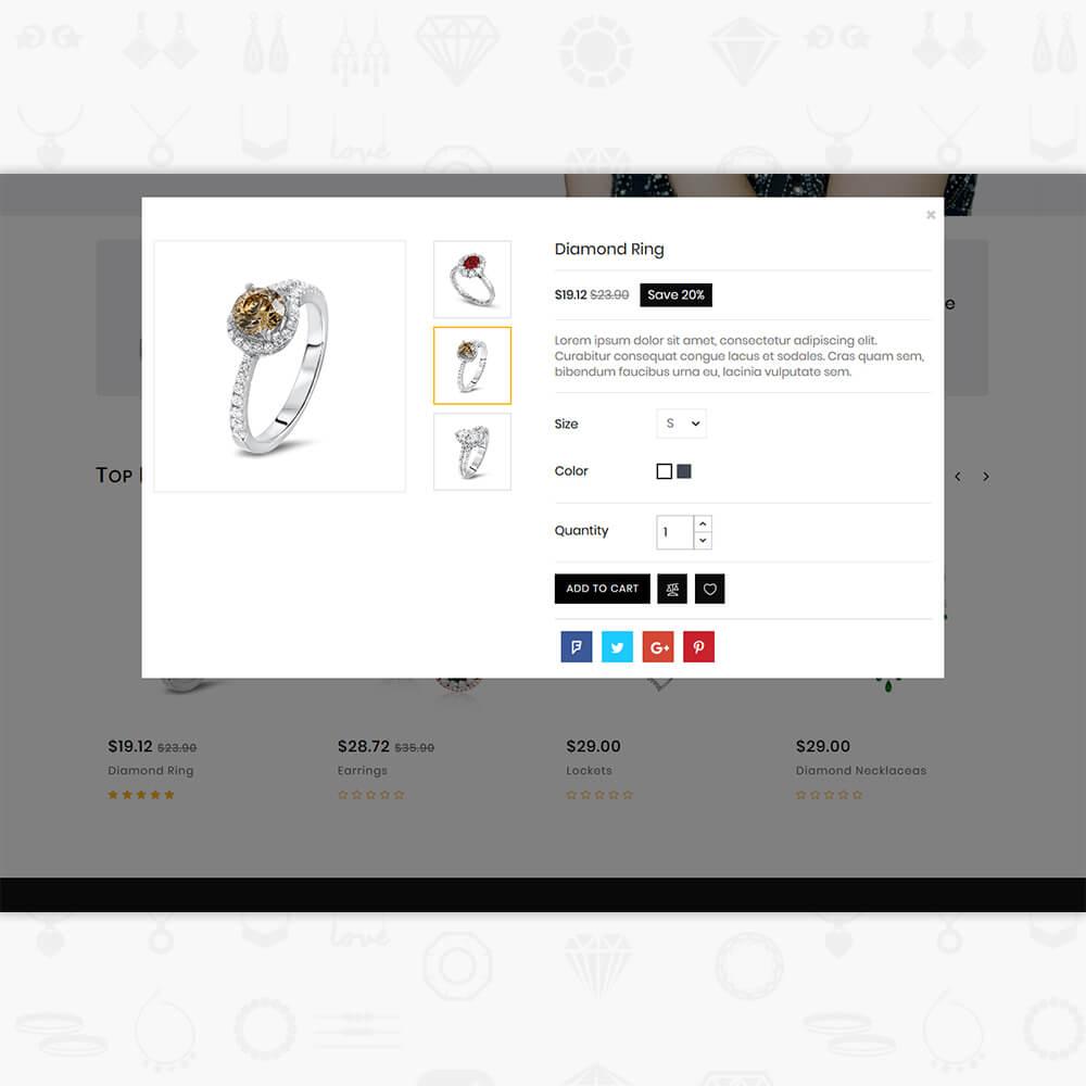 JemsMall - Royal Jewellery Shop Template