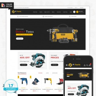 P - Tools - Special Power Tools PrestaShop Theme