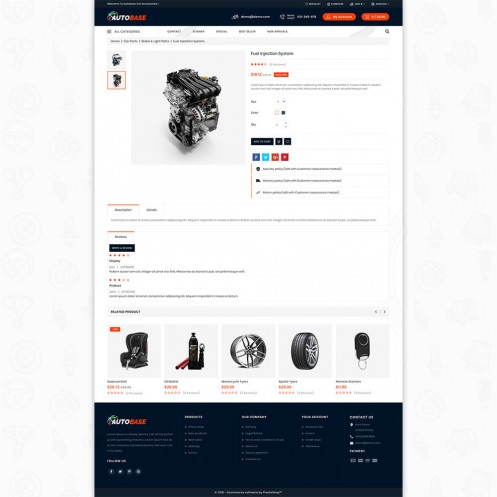 Autobase - The Sport Base PrestaShop Theme