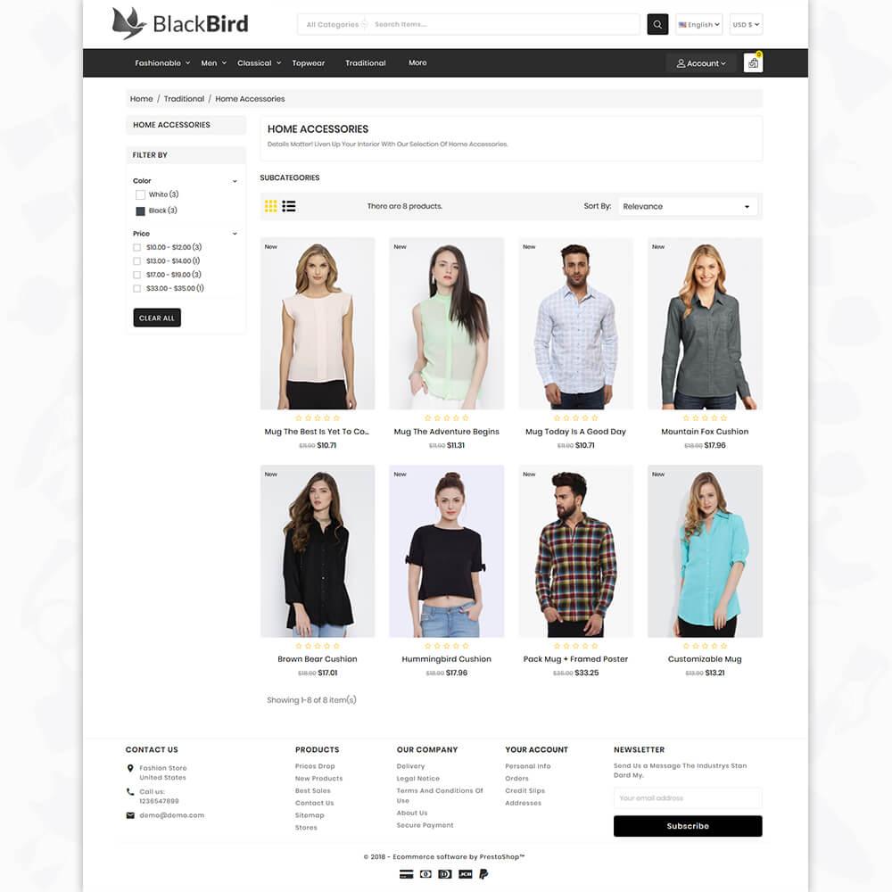 BlackBird - The Fashion Store Template