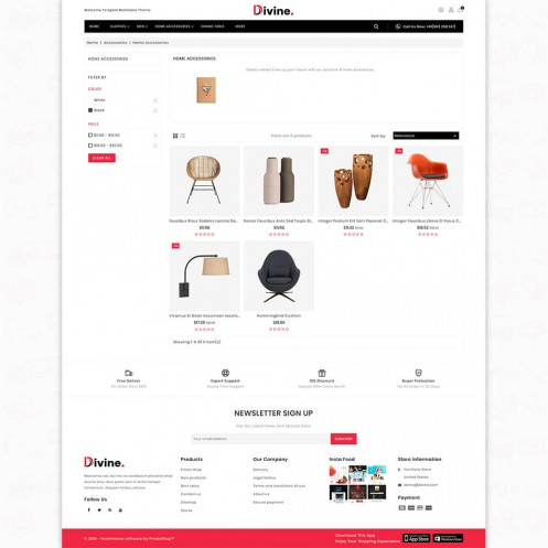 Divine - The Furniture PrestaShop Theme