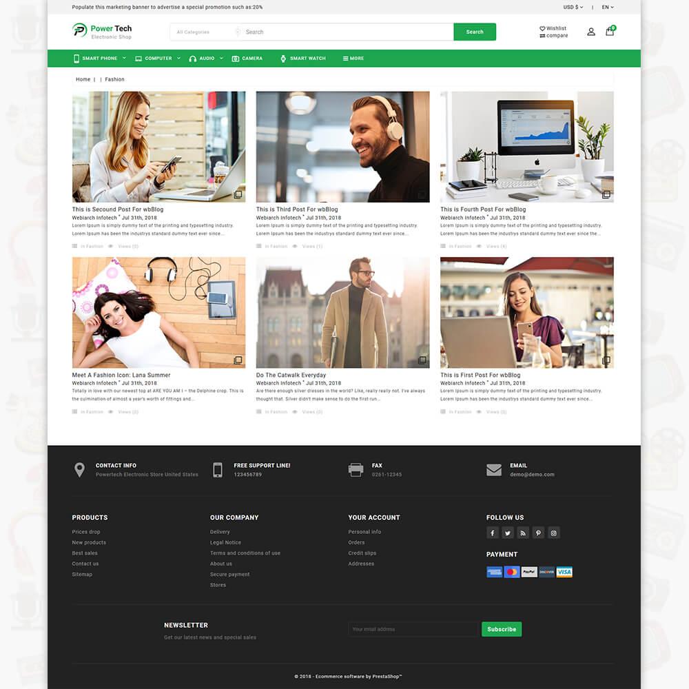 PowerTech - The Electronic Shop Template | Webibazaar Prestashop