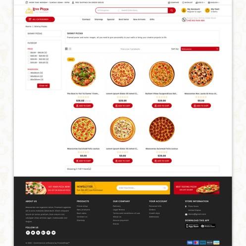 Live Pizza - Fast And Fresh PrestaShop Theme