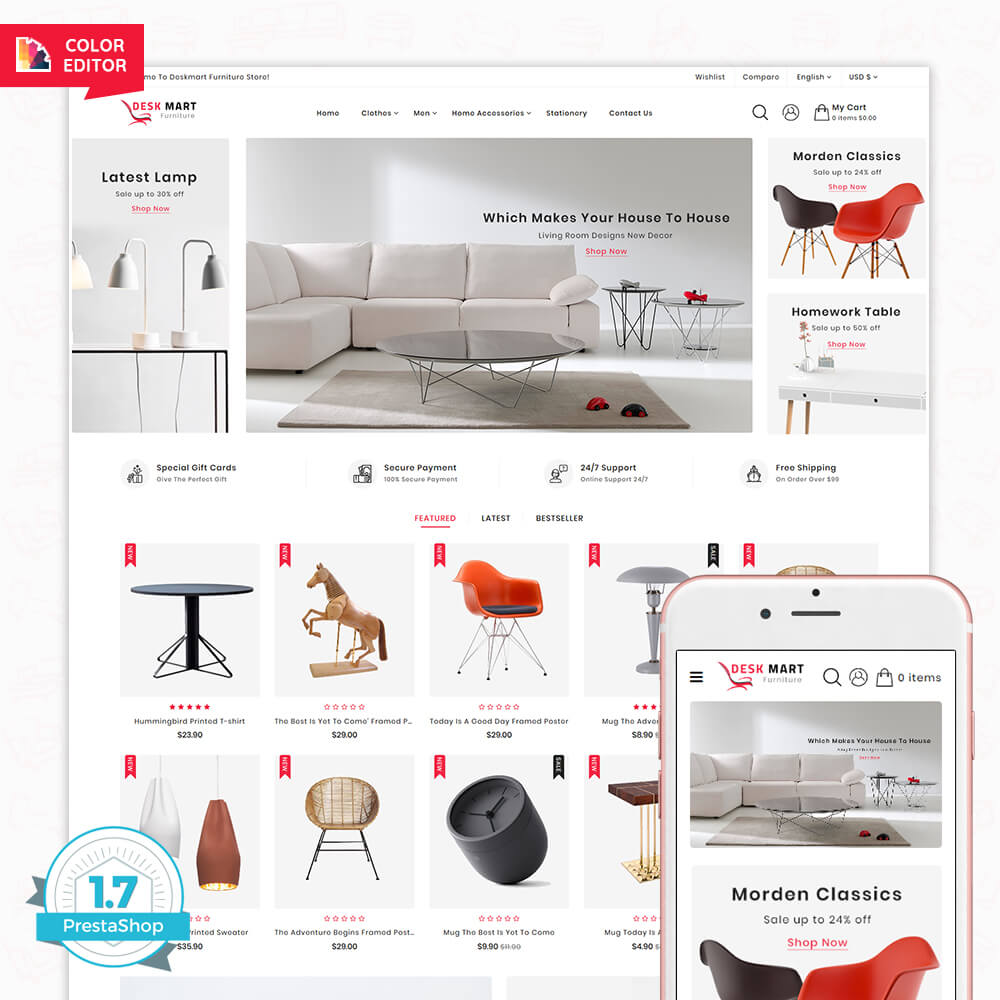 DeskMart - The Furniture Shop Template